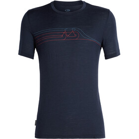 Icebreaker Tech Lite Cadence Pulse SS Crewe Top Men, midnight navy